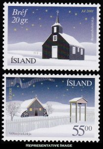 Iceland Scott 954-955 Mint never hinged.
