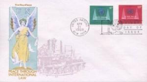 UN #197/198 PEACE THROUGH LAW - Overseas Mailer