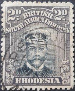 Rhodesia Admiral Die IIIB 2d with PETAUKE (DC) postmark