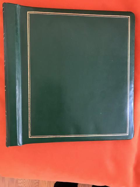Elbe Line used stamp album, Green faux leather