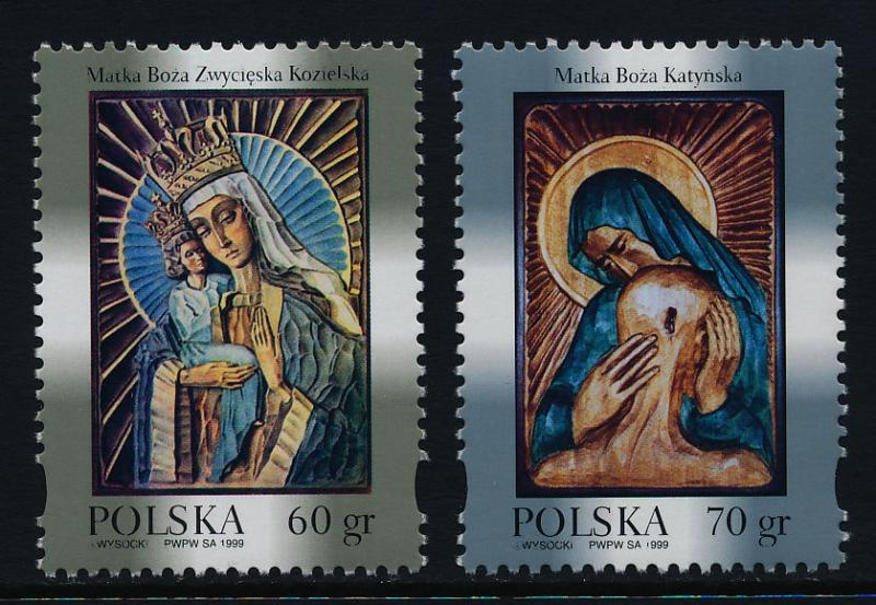 Poland 3444-5 MNH Virgin Mary, Patron Saint of Soldiers