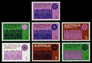 Australia #508a-508g Christmas, MNH set (40.00)
