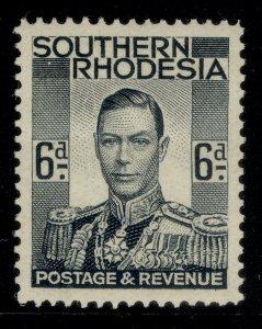 SOUTHERN RHODESIA GVI SG44, 6d grey-black, M MINT.