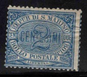 San Marino Scott 2 MH* Blue 1894 stamp CV $15