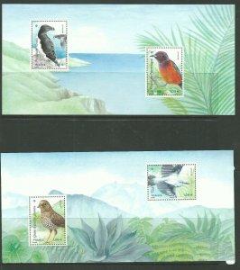 2021   FRANCE  -  ISLAND BIRDS 2 SPECIAL SHEETLETS  UNMOUNTED MINT IN FOLDER
