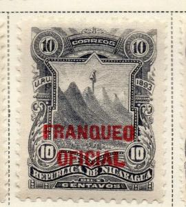 Nicaragua 1893 Early Issue Fine Mint Hinged 10c. Official Optd 323719
