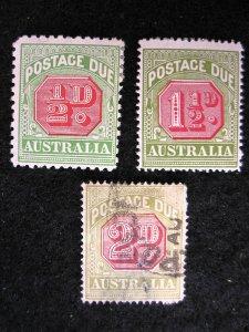 AUSTRALIA - SCOTT#J50.J52-J53 - MINT/USED - CAT VAL $17.75