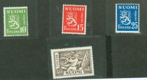 Finland 302-305 Mint F-VF NH