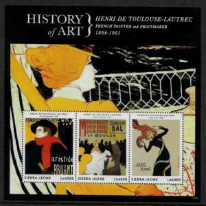 Sierra Leone #3177 MNH S/Sheet - History of Art