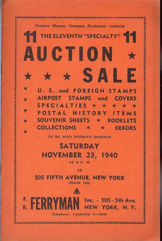 Ferryman: Sale # 11  -  U.S. & Foreign Stamps, Airpost St...