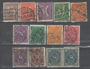 COLLECTION LOT # 4620 GERMANY 13 STAMPS WMK 126 1921+ CV+$26