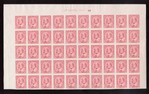 Canada #90a XF/NH Plate #3 Top Imperforate Block Of 50