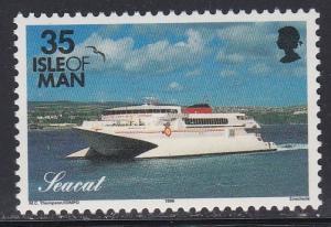 Isle of Man # 551A, Yacht Seacat, NH, 1/2 Cat.