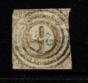 Thurn and Taxis SC# 55, Used, Center Thin - Lot 082717