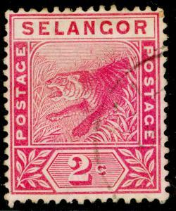 MALAYSIA - Selangor SG50, 2c rose, FINE USED, CDS.