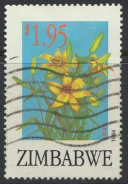 Zimbabwe SG 880  SC# 712  Used  Export Flowers   see detail and scan
