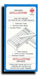 UNISAFE GUILLOTINE FOR PRECISE STAMP MOUNT CUTTING