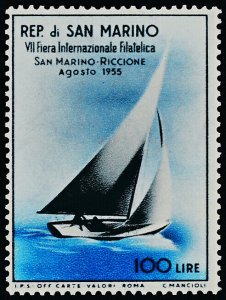 San Marino 358 MNH Yacht, Stamp Fair