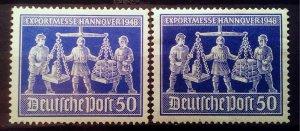 Germany Allied Occupation Mi 970 a+b **