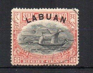 North Borneo - Labuan 1896 8c FU