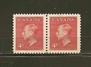 Canada 292 King George VI Pair MNH