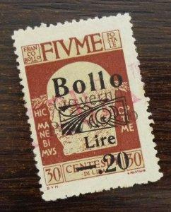 Fiume 1921 Croatia Italy Hungary Yugoslavia Revenue Stamp  C6
