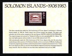 Solomon Is-Sc#514a-unused NH sheet-World Communications Year-1983-
