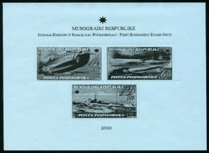 MUSOGRAD - Micronation - 2000 - Submarines -  Min. Sheet - Mint Never Hinged