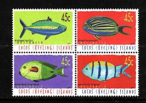 Cocos (Keeling) Is.-Sc#335-unused NH set-Fish-Marine Life-2001-