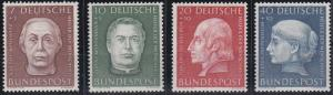 Germany B338-B341 MNH (1954)