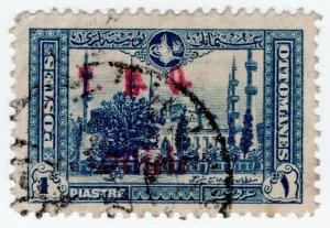 (I.B) Turkey Postal : Overprint 1pi