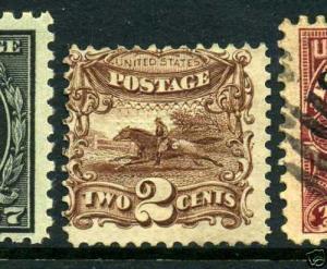 Scott #113 Post Horse & Rider Unused Stamp (Stock #113-14)