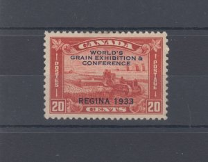 #203 20 cent Harvester Grain Conference VF MH Cat $60 Canada mint