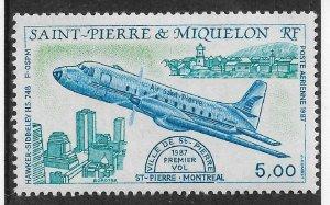St Pierre & Miquelon 1987 Airmail, Hawker Siddeley HS 748, Scott # C61, VF MNH**
