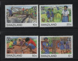 SWAZILAND 485-488 (4) Set, Hinged, 1985 Girl Guide Movement