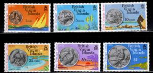 Virgin Islands  Scott 258-259 MH* coin on stamp set
