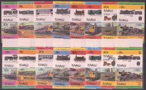 Tuvalu stamp Locomotives (II) pairs + SPECIMEN MNH 1984 Mi 228-243 WS142775