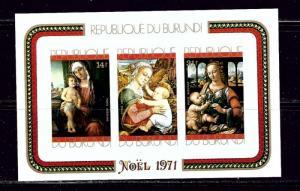 Burundi C145a MNH 1971 Christmas Imperf S/S
