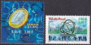 France #2830, 2838  MNH CV $2.80 (Z7903)