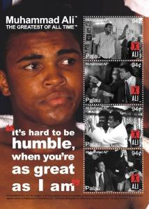2008 MUHAMMAD ALI - BOXER - 2 POSTAGE STAMP SHEETS FROM - PALAU