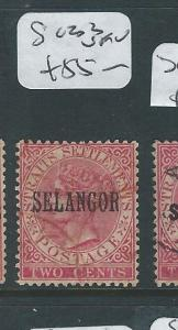 MALAYA SELANGOR  (P0510B) 2C QV  SG 33  VFU