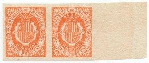 (I.B) Andorra Postal : Arms of The Republic 10Ptas (die proof)