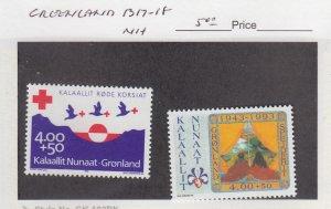 J25846  jlstamps 1993 greenland set mnh #b17-8 designs all checked & sound