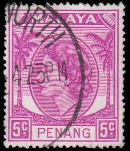 Malaya Penang Scott 32 Used.