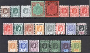 Leeward Is 1938 1/4d-£1 GVI KeyPlate SG 95-114 Sc 103-115 LMM/MLH Cat£227($295