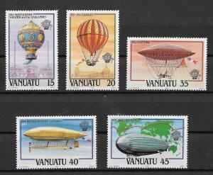 Vanuatu MNH Set Of Airships 1983