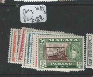 MALAYA PAHANG (P0908B) SG 75-81, 82-6  MOG