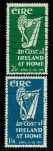 Ireland SC# 147 and 148, Used, 147 small corner crease - Lot 070217