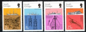 South Georgia Sc# 44-47 MNH 1975 Discovery 50th
