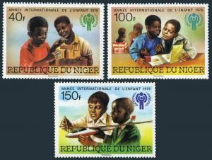 Niger 469-471,MNH.Michel 659-661. Year of Child IYC-1979.Building blocks,Plane.